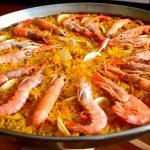 Paella Mixta o de mariscos para llevar.